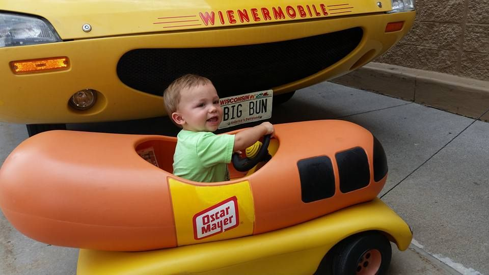 longtime fan enjoys afternoon with weinermobile. Black Bedroom Furniture Sets. Home Design Ideas