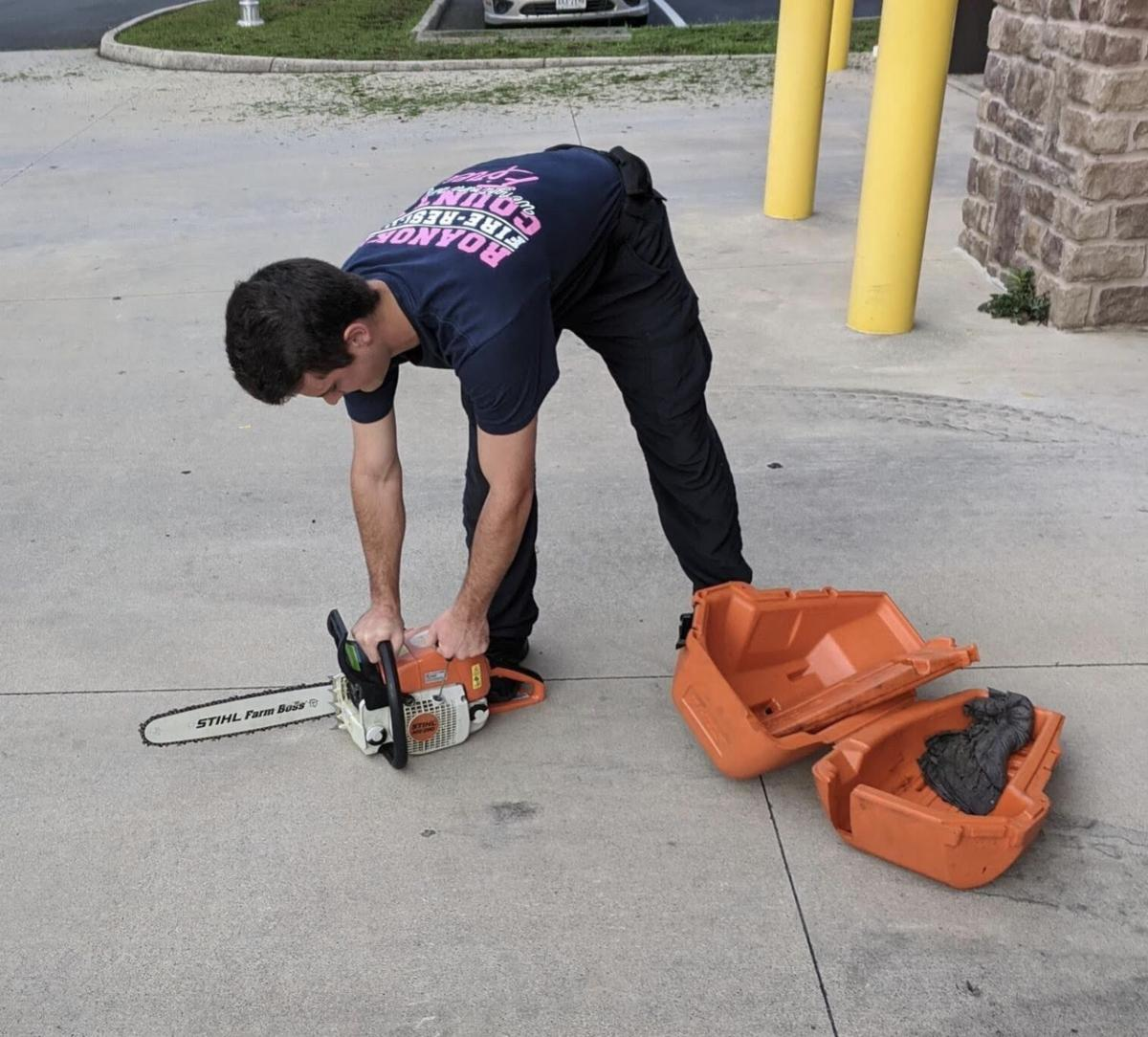 firefighter w/chainsaw