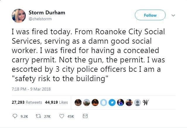 Chelsea Storm Durham tweet