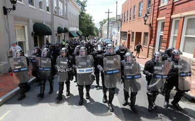 State police at Unite the Right