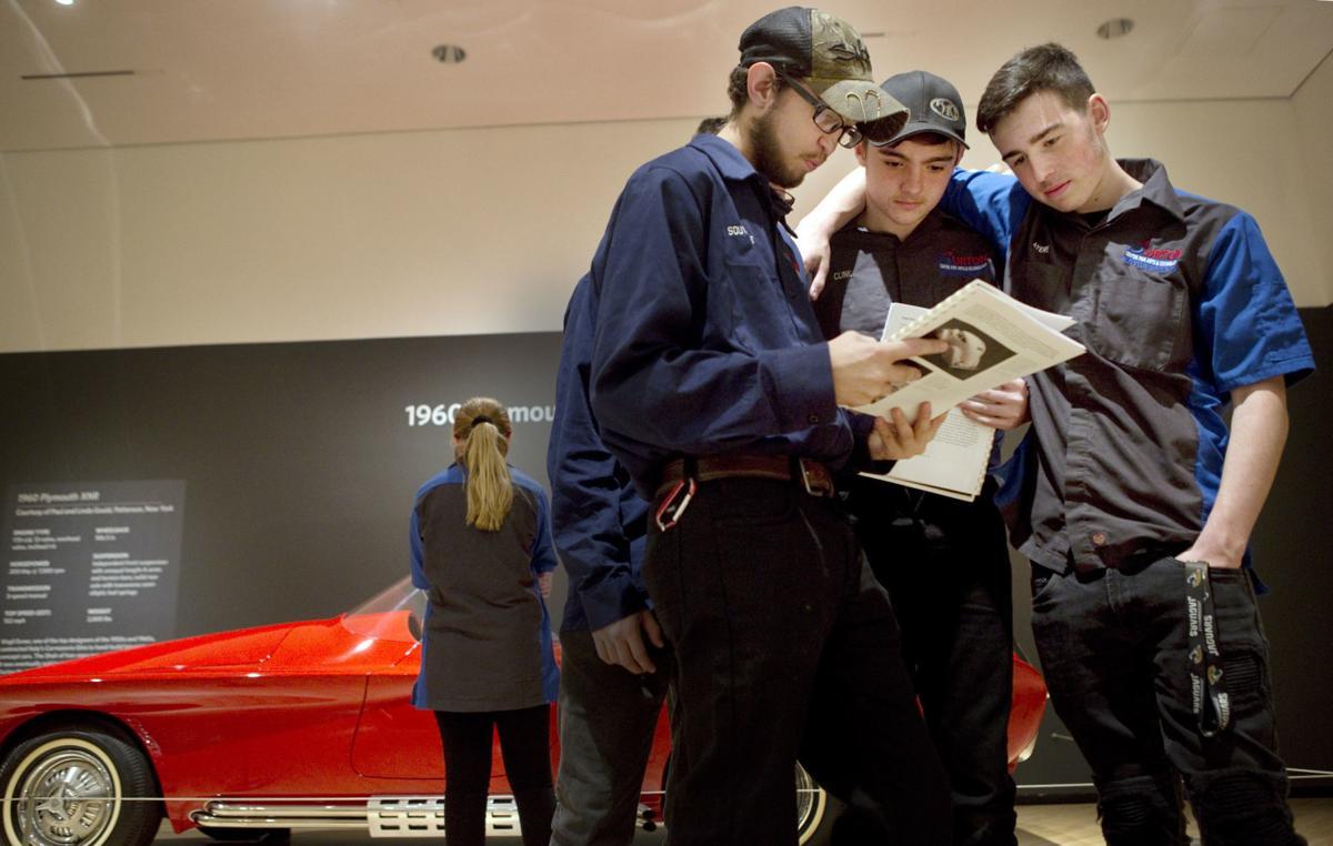 Burton students visit 'dream' cars at Taubman | Arts ...