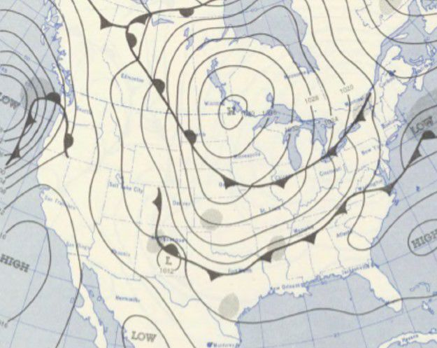 Oct 7 1954 weather map