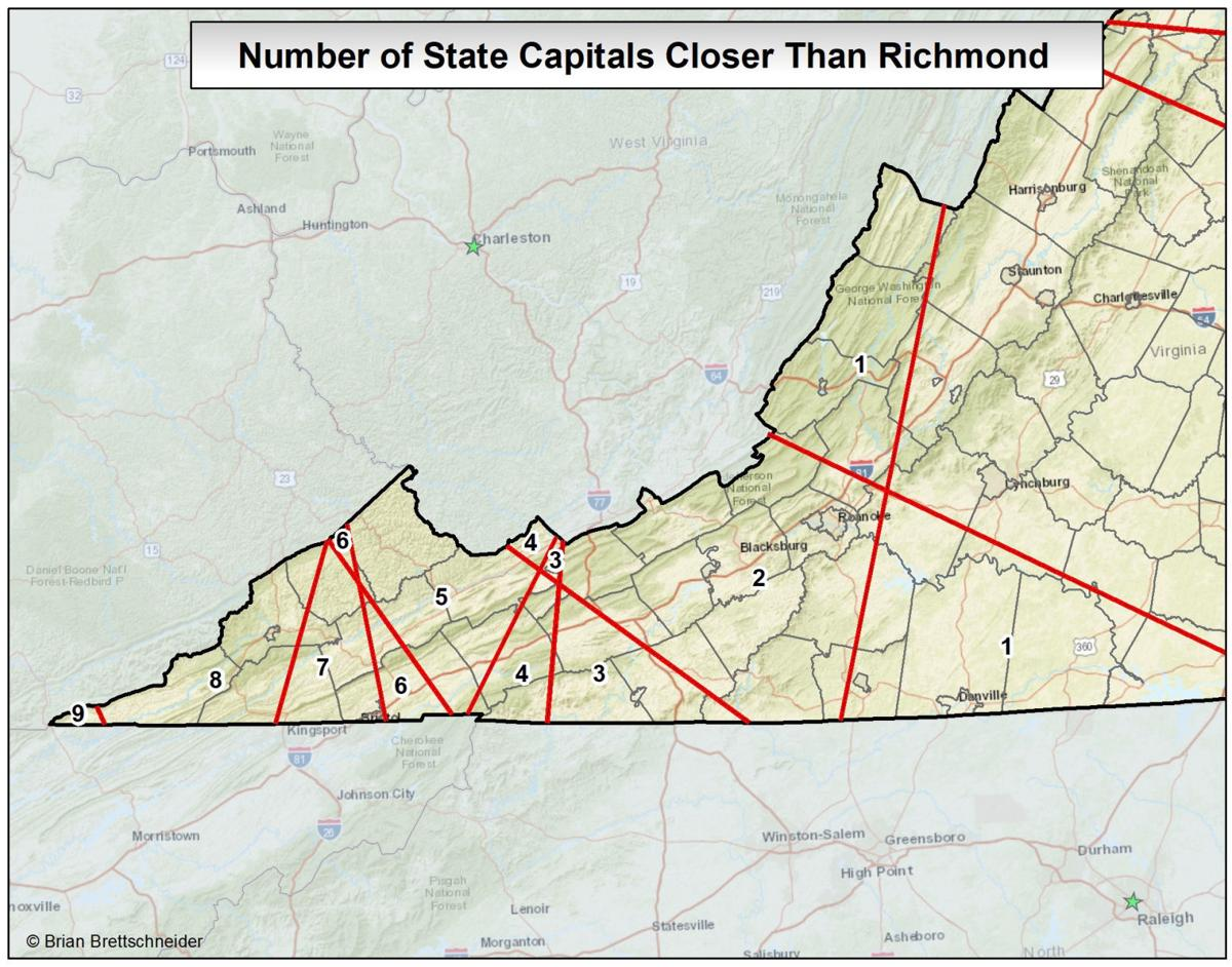 Editorial Southwest Virginia Is Further Away From Richmond Than You - Richmond-virginia-on-us-map