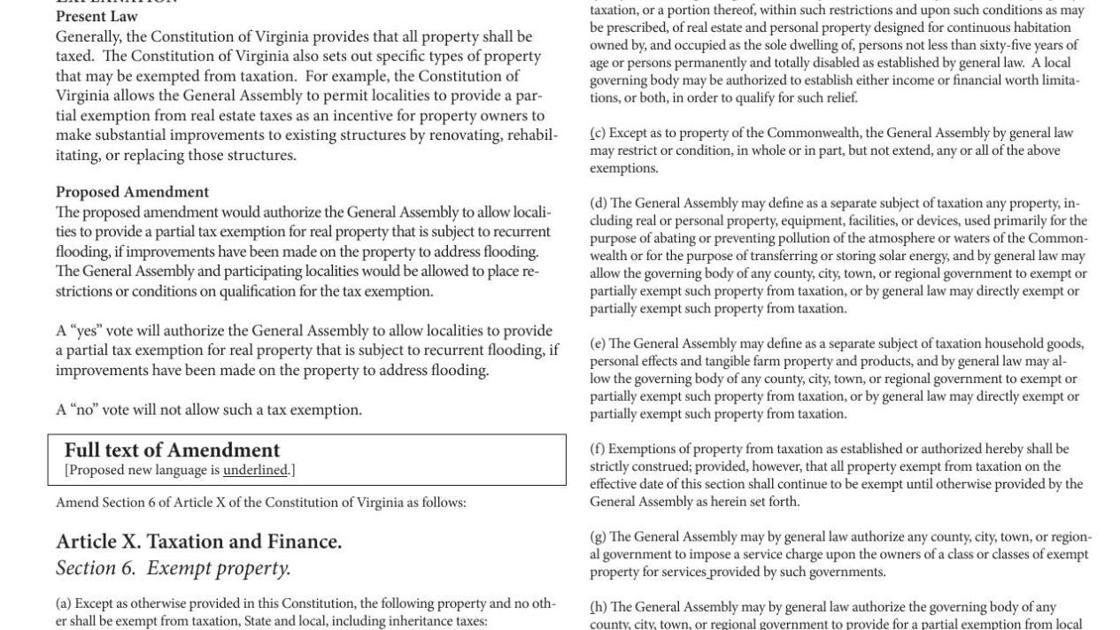 Proposed Constitutional Amendments | | roanoke com