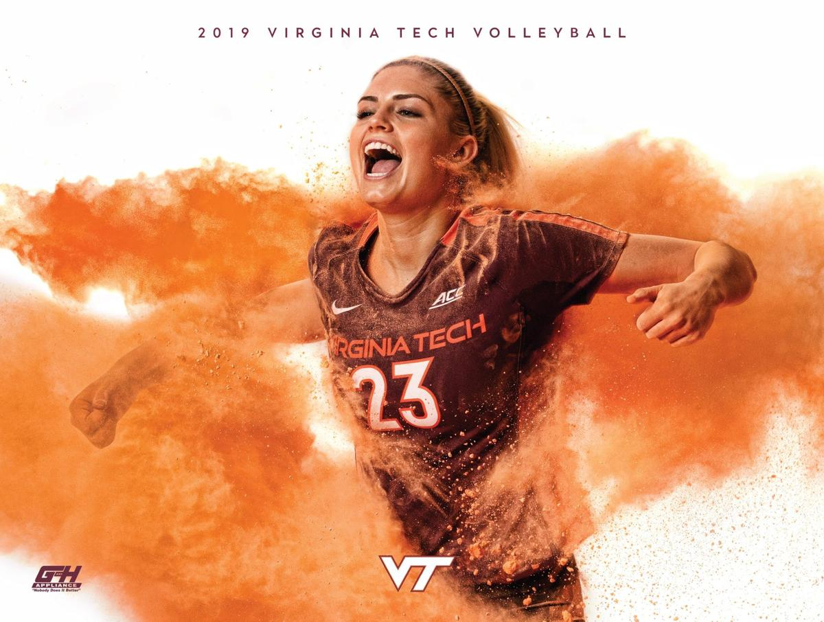 Virginia Tech volleyball poster