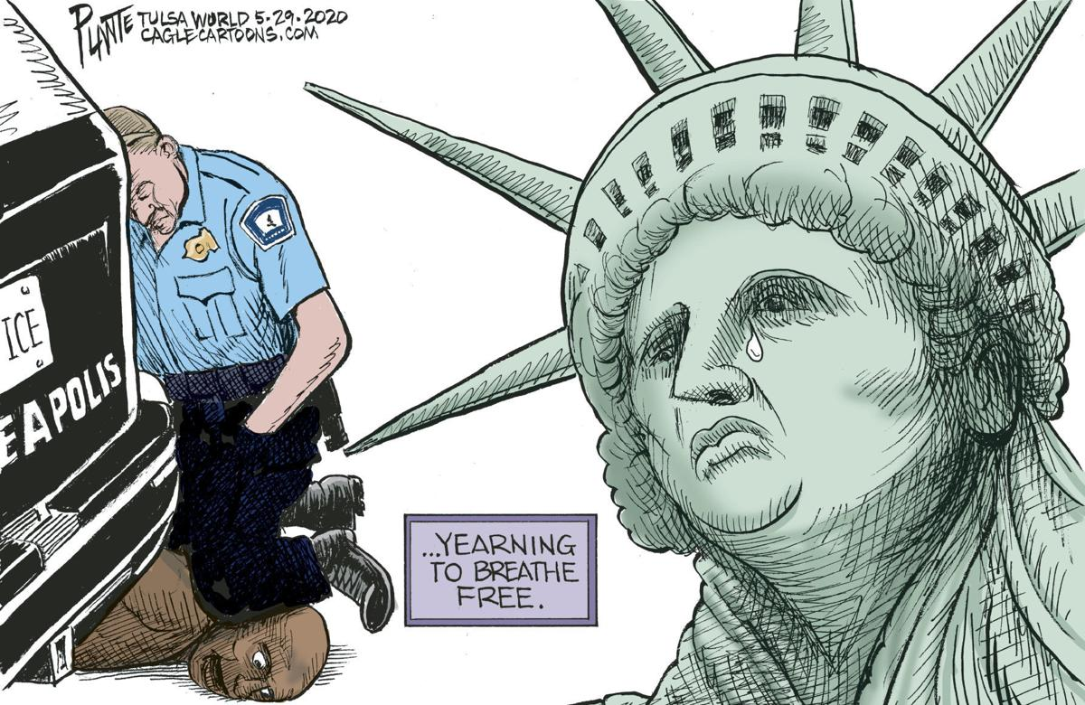 Bruce Plante Cartoon: I can't breathe