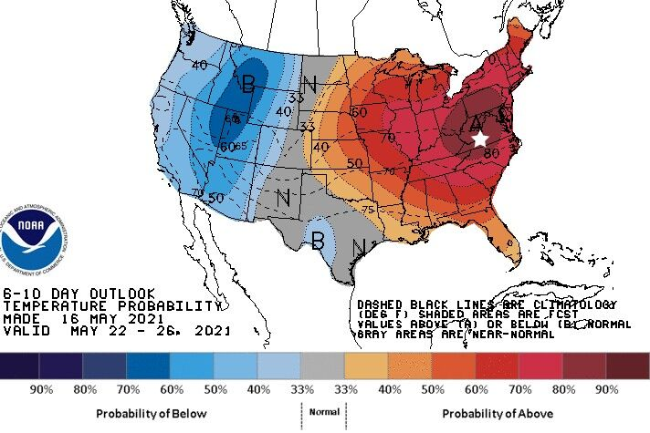 6-10 day temperature map 051621