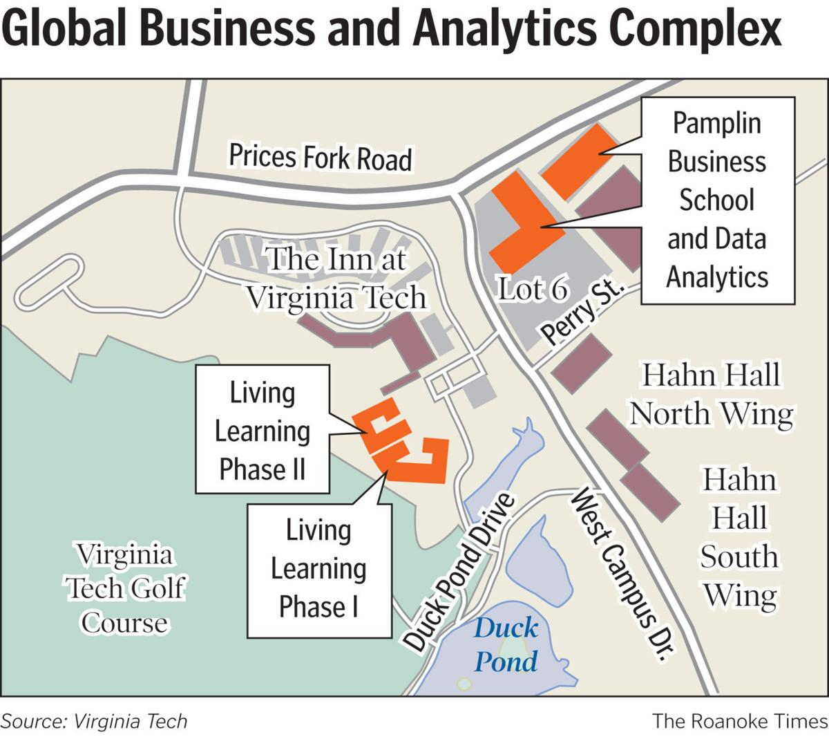 Virginia Tech Announces Plan For 225 Million Global Business And Pond Plans Diagram Data Analytics Complex