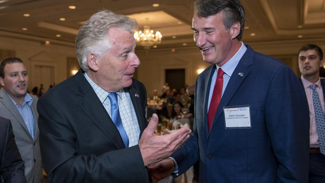 Millions pour into Virginia race for governor; Youngkin's wealth helps him outraise McAuliffe in latest period