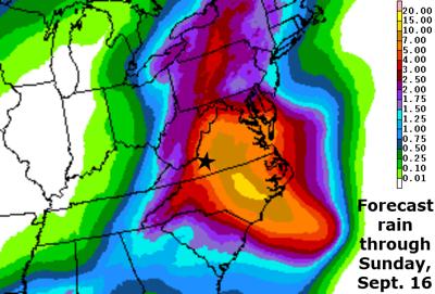 Hurricane Florence Chances Of Carolinas Landfall Southwest - Us-hurricane-landfall-map
