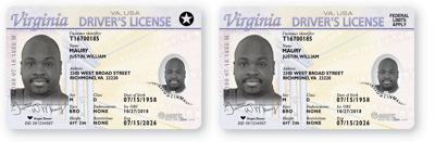 real ID va. standard