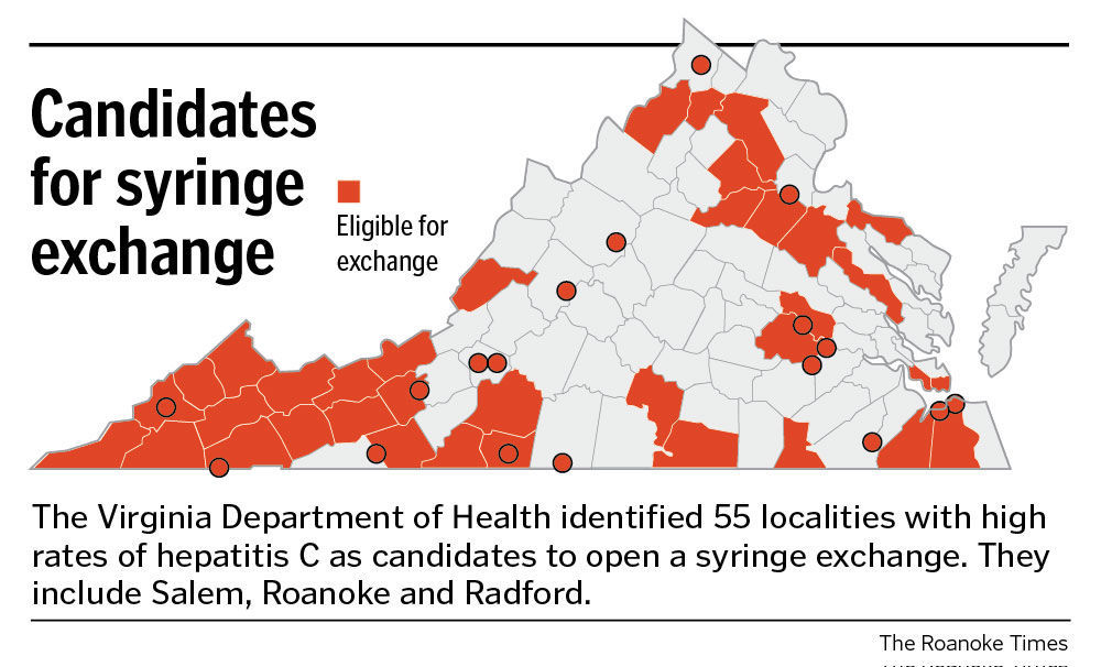 Needle exchange localities