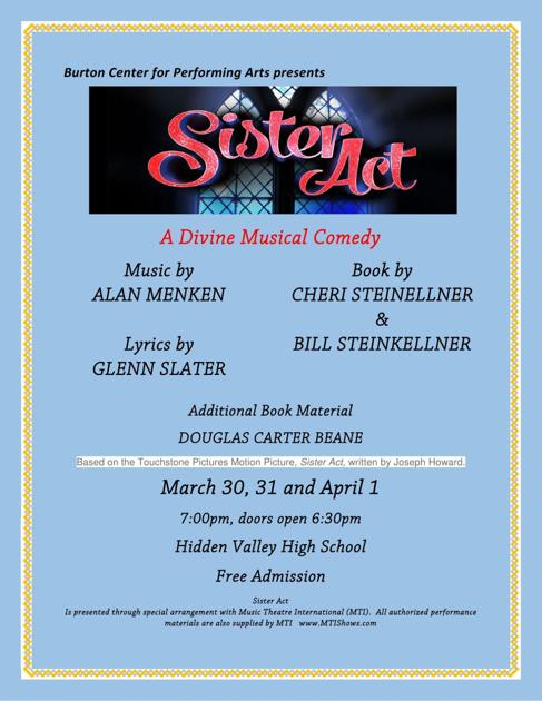 Burton center for the performing acts presents sister act march 30 burton center for the performing acts presents sister act march 30 april 1 at hvhs so salem roanoke stopboris Image collections