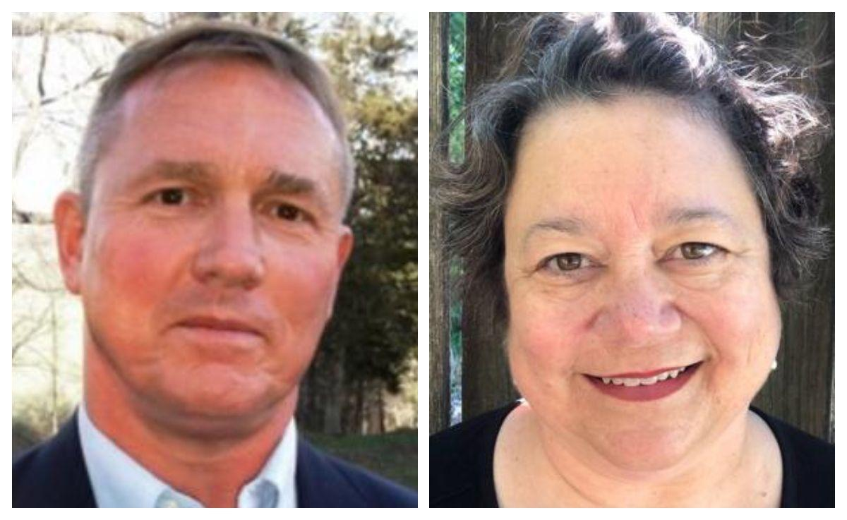 Bedford County School Board District 7 candidates Martin Leamy, left; Patti Kese, right.