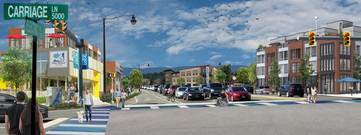Oak Grove Center Conceptual Rendering 2 - Electric Rd-Carriage Ln intersection area.jpg