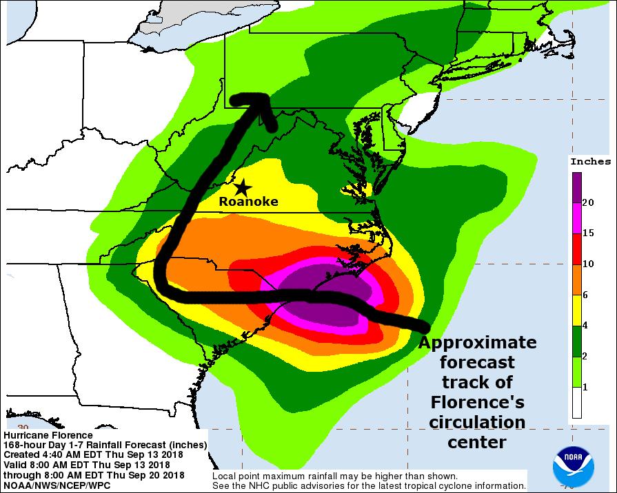 Thursday AM update: Florence a factor well into next week | Weather ...