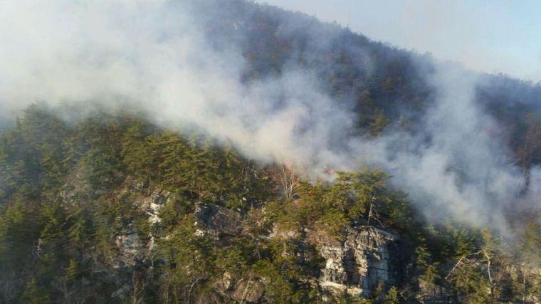 Brush fire spreads through Buchanan