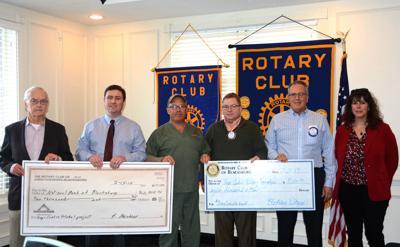 Rotary Hope Center Checks Presentation