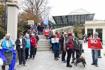 Protest against the Mountain Valley and Atlantic Coast pipelines