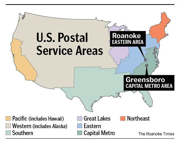 Casey Postal Service Plays Hard To Get On Info News Roanokecom - Us postal district map