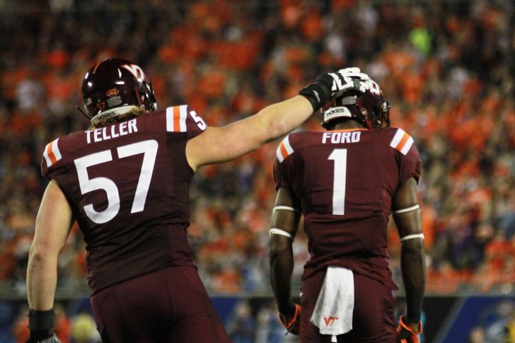 ford not thinking about nfl yet hokies resume practice and conte