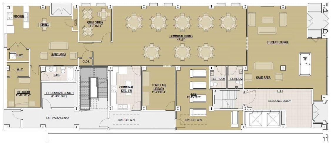 school floor plan