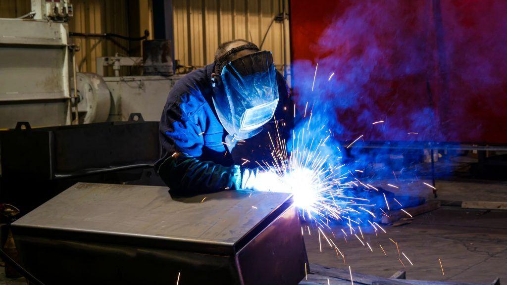 Lawrence-battery tray welder