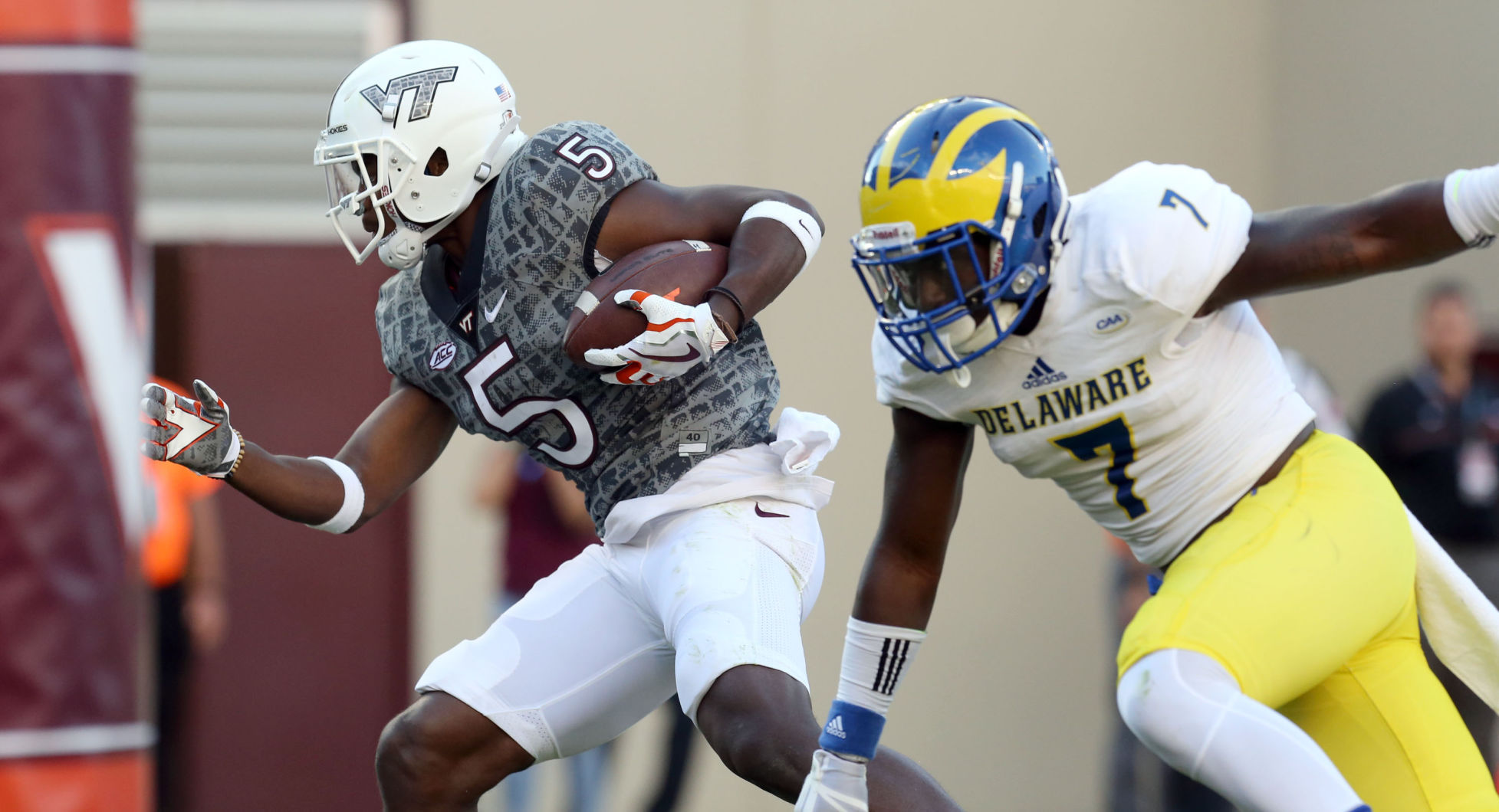 Jackson, No. 18 Virginia Tech defense too much for Blue Hens