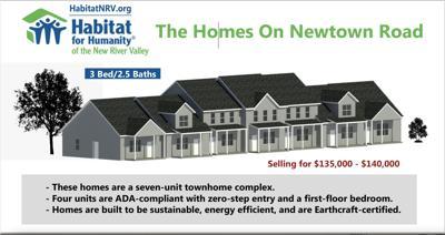 Floyd Habitat townhomes rendering