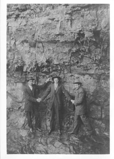 Three men visiting one of the many caves in Robertson County. SUBMITTED