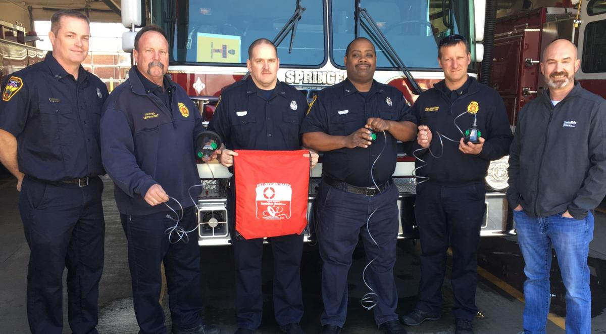 Springfield firefighters receive oxygen masks for pets
