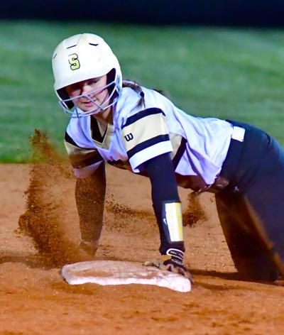 Springfield's Elizabeth Funk is safe at second