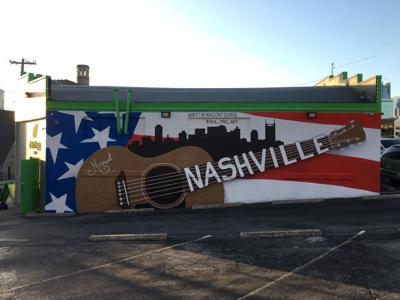 The newest work by local artist, Manuel Fuentes l adorns the headquarters of a tour company in downtown Nashville. SUBMITTED
