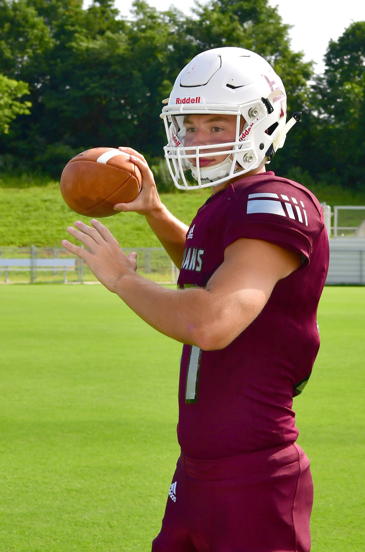 Senior Drake Alsup has moved from WR to QB..jpg