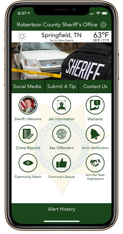 Robertson County Sheriff's Office unveils new app