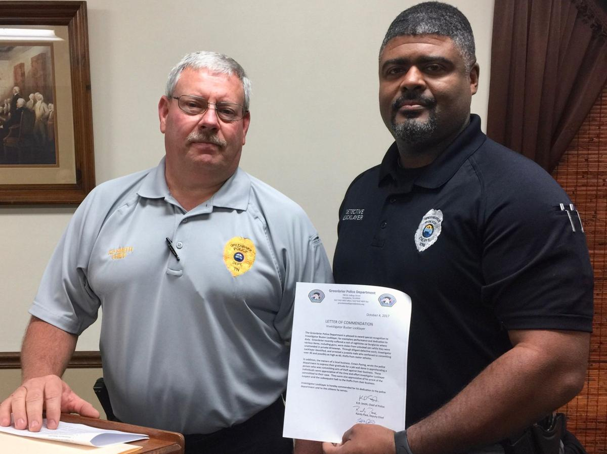 Greenbrier Detective Receives Commendation  Community