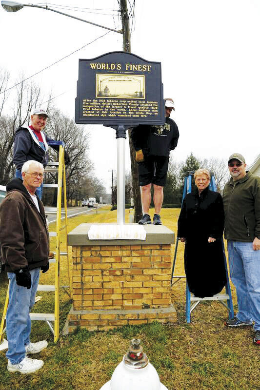 Historical marker unveiled to commemorate county's rich tobacco history