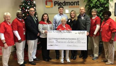 Piedmont Rockdale Auxiliary donation