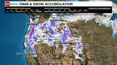After deadly storms, torrential rain will pummel the Southeast as heavy snow will slam the Northwest
