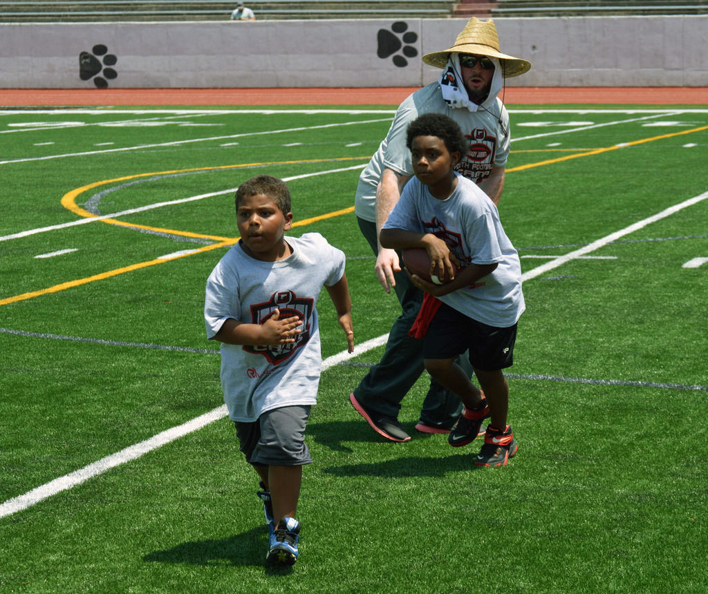 Grady Jarrett gives his time and money with free football camp