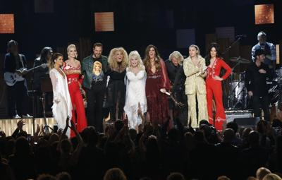 Dolly Parton celebrated in all-star Grammys tribute