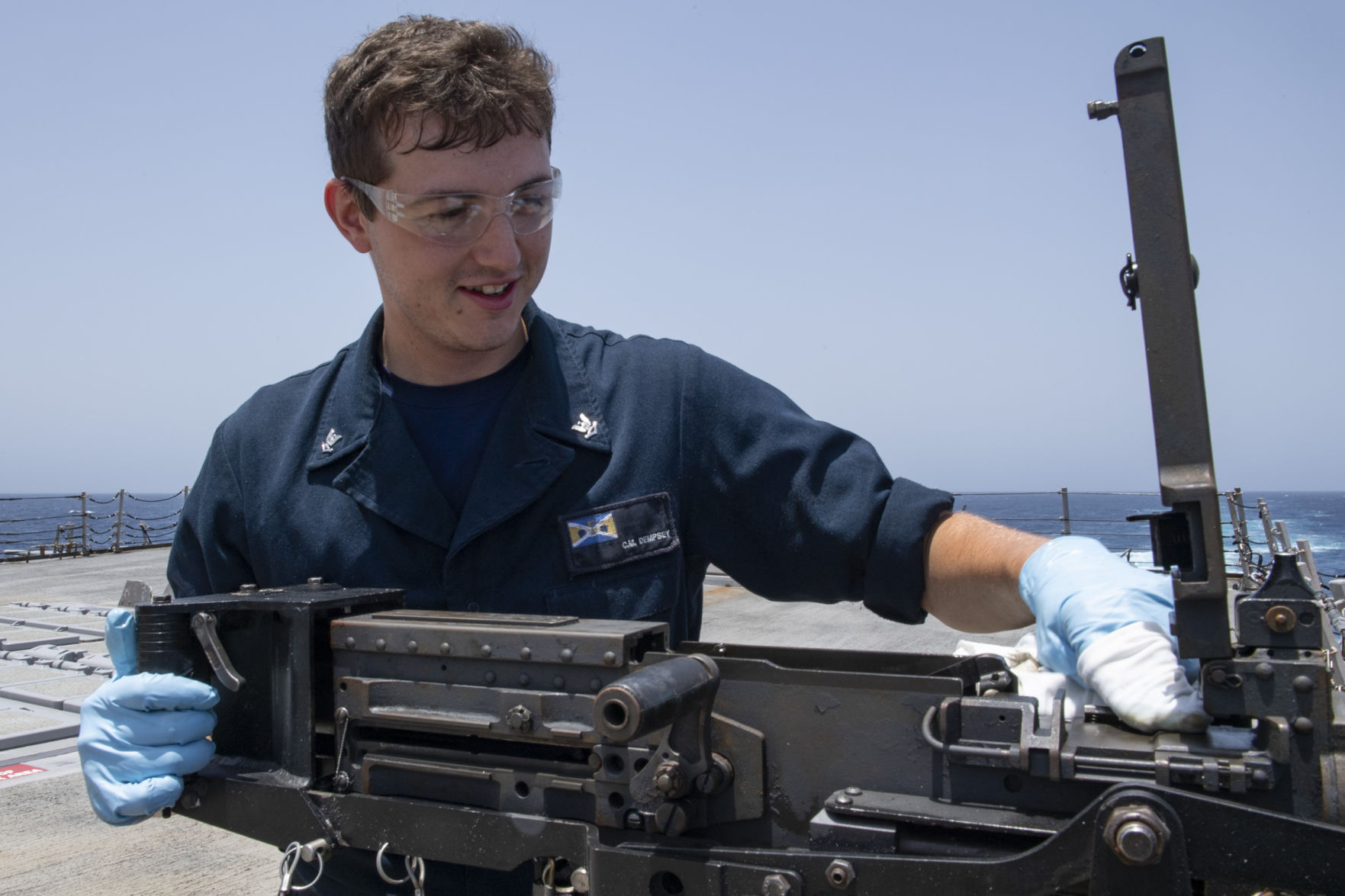 Dempsey serves aboard USS Mason