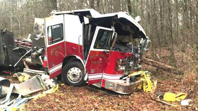 Two Fire Trucks Wreck On Same Road