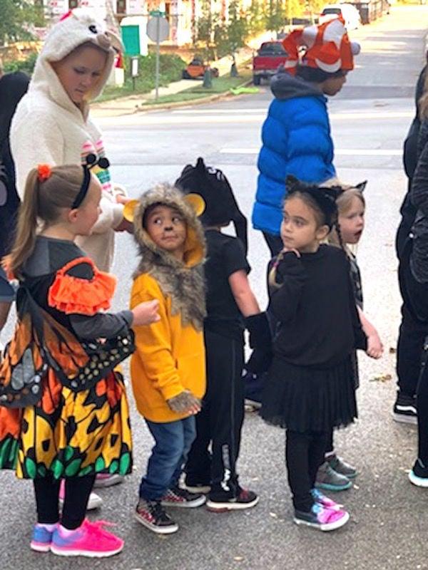 Montessori students celebrate Habitat Halloween