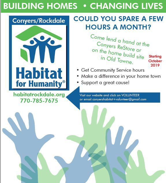 Rockdale Habitat for Humanity volunteer opportunity
