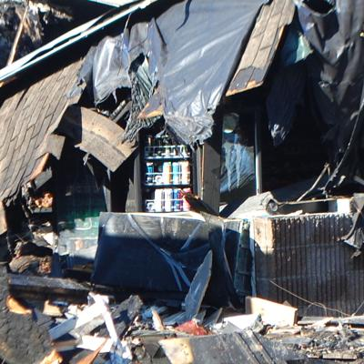 Fire destroys thrift and convenience stores