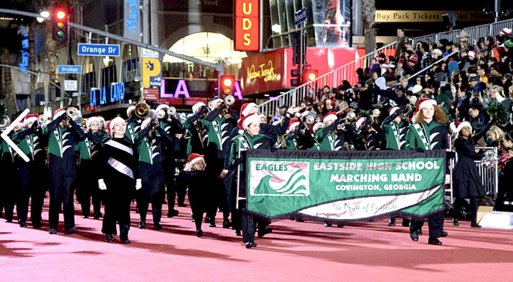 Eastside High band performs in Hollywood