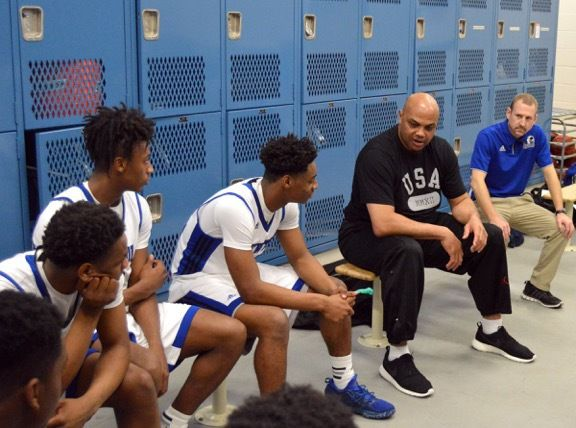 Barkley passes on life and basketball lessons to Newton boys