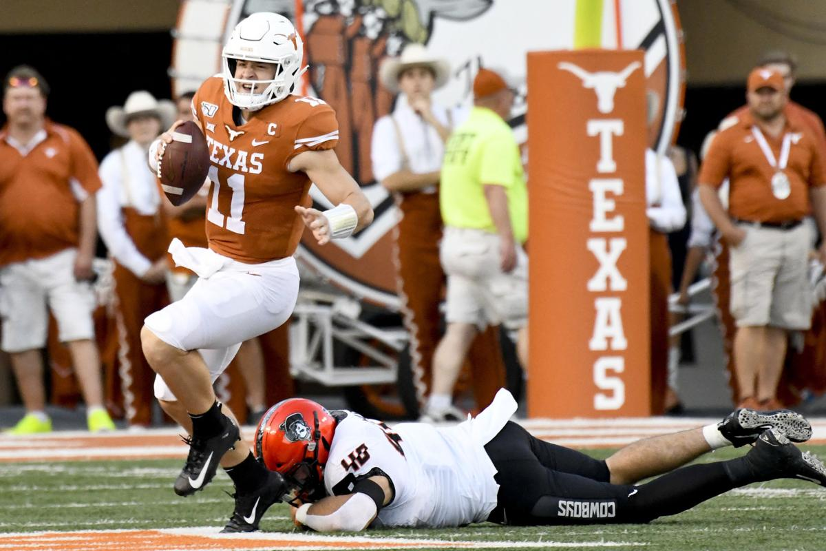 Sam Ehlinger's 4 TDs help No. 12 Texas hold off Oklahoma St ...