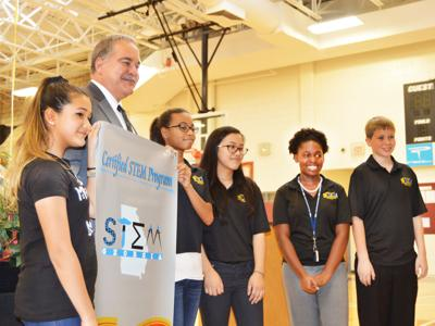 Memorial Middle School celebrates state STEM certification